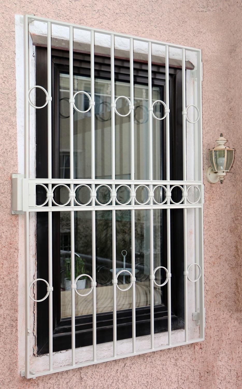 Fenstergitter weiß