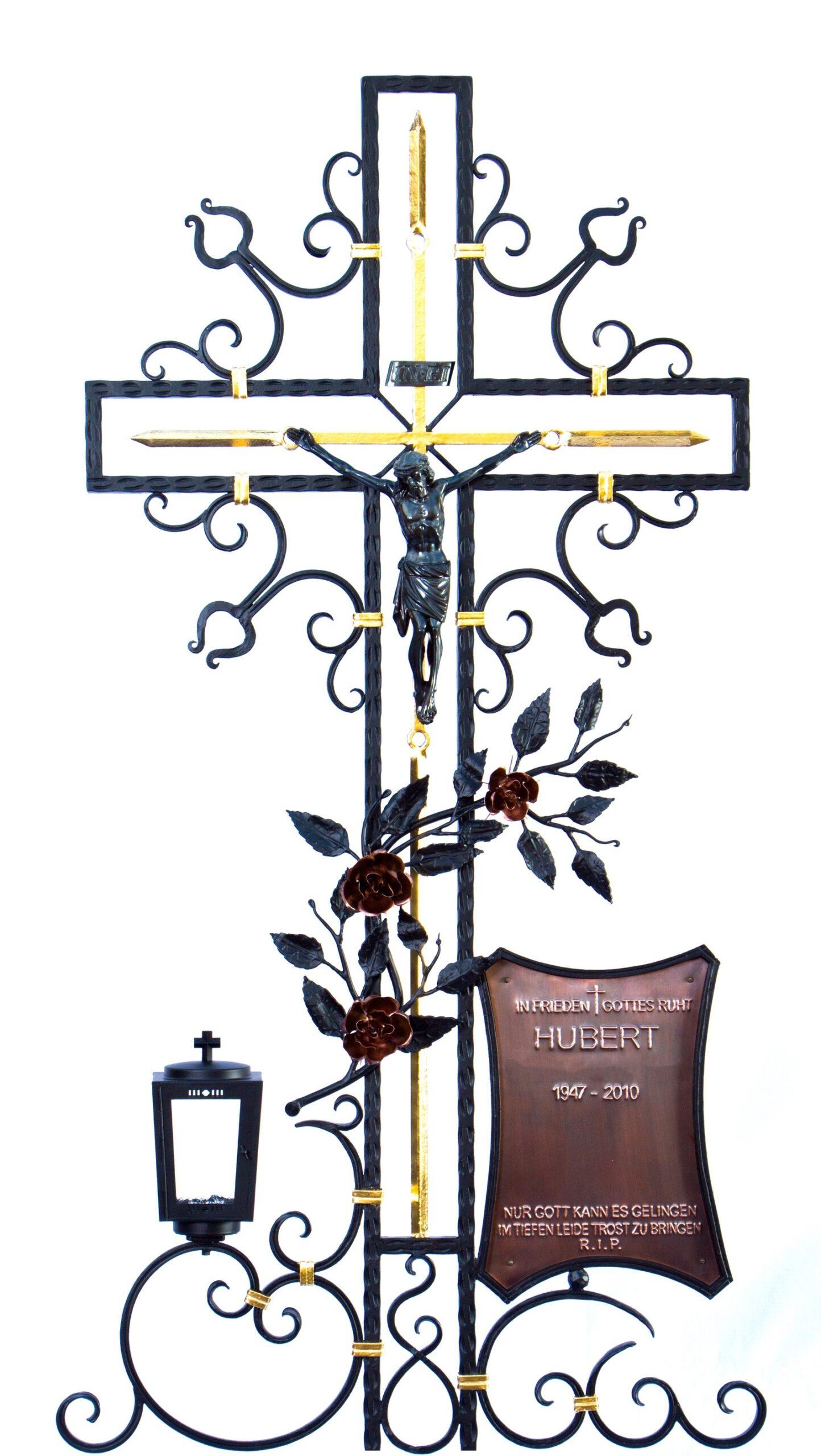 Grabkreuz mit Namensschild