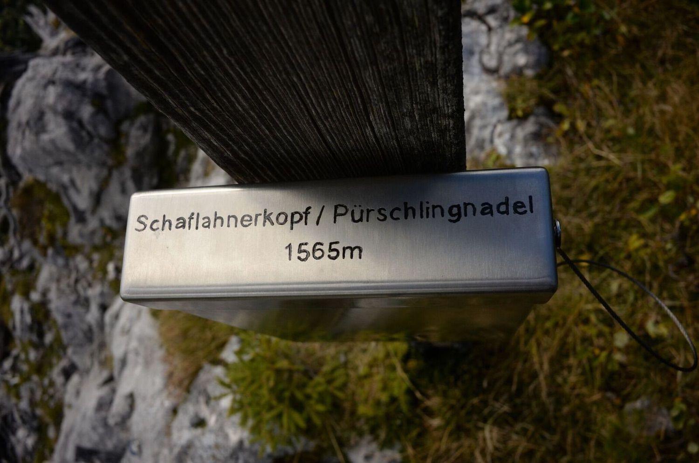 Metallschild Berg